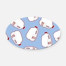 Milk Jugs Pattern Oval Car Magnet