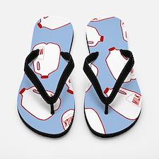 Milk Jugs Pattern Flip Flops