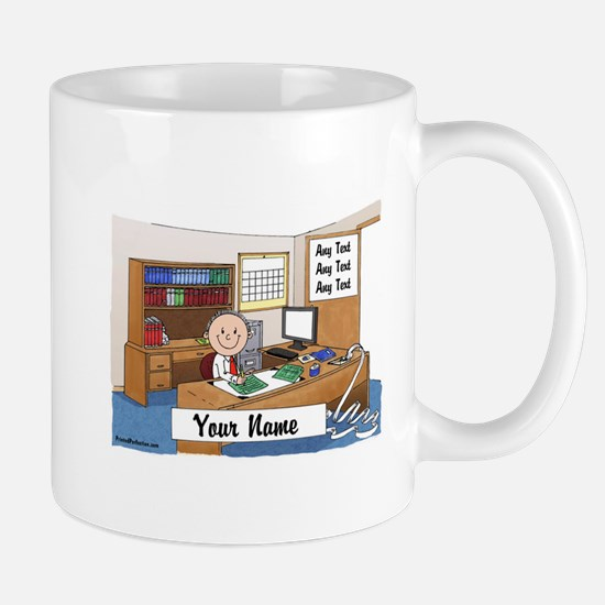 Accountant - Bookkeeper, Male Mugs