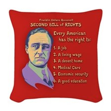 2nd Bill of Rights Woven Throw Pillow