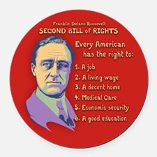 2nd Bill of Rights Round Car Magnet