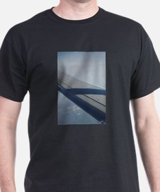 Airplane flying in sky wing in T-Shirt