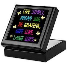 Live Life Keepsake Box