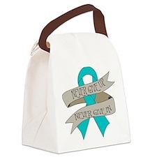 Ovarian Cancer Canvas Lunch Bag