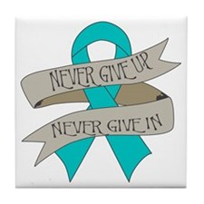 Ovarian Cancer Tile Coaster