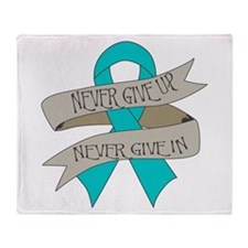 Ovarian Cancer Throw Blanket