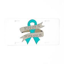 Ovarian Cancer Aluminum License Plate
