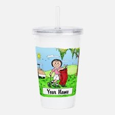 Golf, Female Acrylic Double-wall Tumbler
