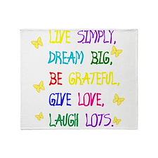 Live Simple 2 Throw Blanket