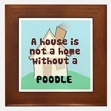 Poodle Home Framed Tile
