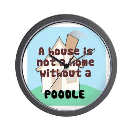 Poodle Home Wall Clock