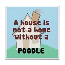 Poodle Home Tile Coaster