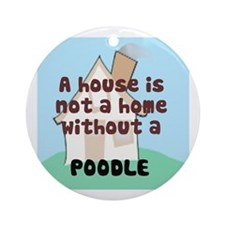 Poodle Home Ornament (Round)