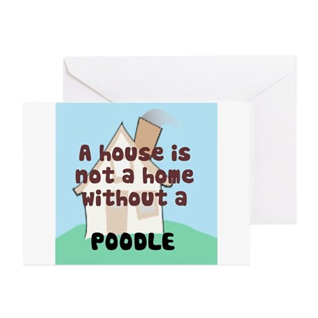 Poodle Home Greeting Cards (Pk of 10)