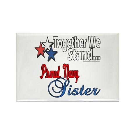 Navy Sister Rectangle Magnet (10 pack)