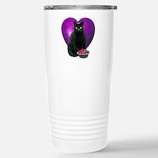 Cat Purple Heart Travel Mug