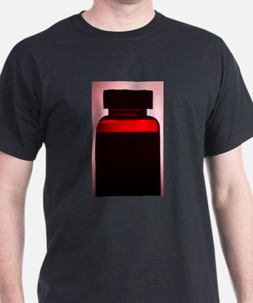Vitamin pill bottle silhouette photo T-Shirt