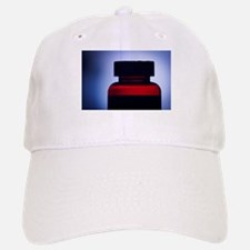 Vitamin pill bottle silhouette photo Baseball Baseball Cap