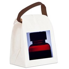Vitamin pill bottle silhouette ph Canvas Lunch Bag