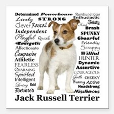 "Jack Russell Traits Square Car Magnet 3"" x 3"""
