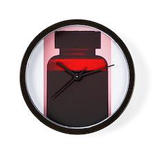 Vitamin pill bottle silhouette photo Wall Clock