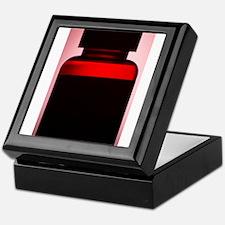 Vitamin pill bottle silhouette photo Keepsake Box