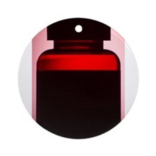 Vitamin pill bottle silhouette ph Ornament (Round)