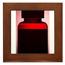 Vitamin pill bottle silhouette photo Framed Tile