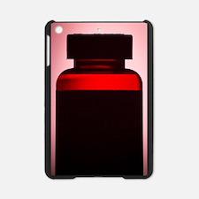 Vitamin pill bottle silhouette phot iPad Mini Case