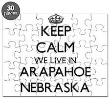 Keep calm we live in Arapahoe Nebraska Puzzle