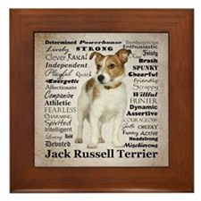 Jack Russell Traits Framed Tile