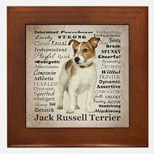 Jack Russell Traits Framed Tile