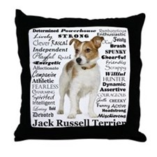 Jack Russell Traits Throw Pillow