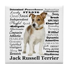 Jack Russell Traits Tile Coaster