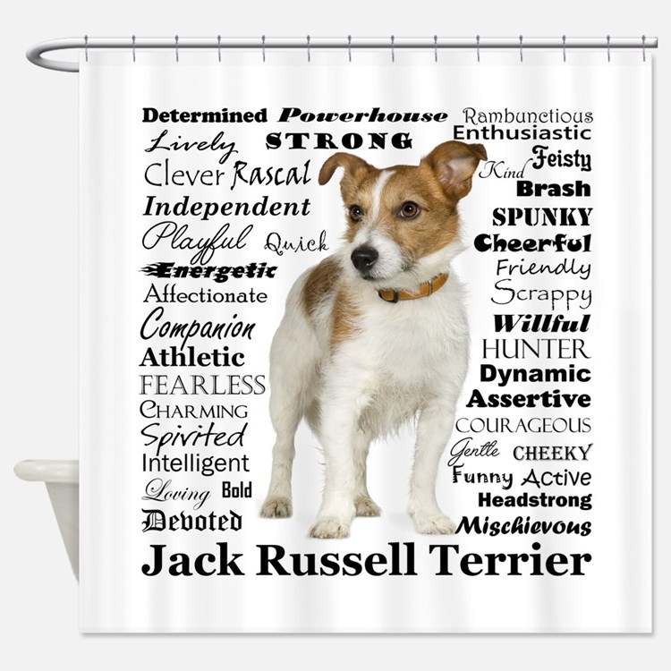 Jack Russell Traits Shower Curtain