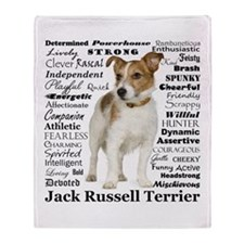 Jack Russell Traits Throw Blanket