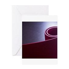 Red fitness yoga and pilates foam g Greeting Cards