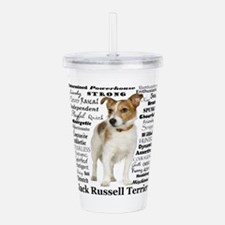 Jack Russell Traits Acrylic Double-wall Tumbler