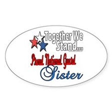 National Guard Sister Oval Decal