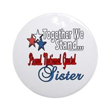 National Guard Sister Ornament (Round)
