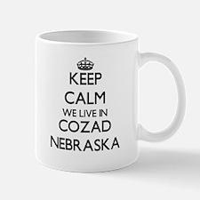 Keep calm we live in Cozad Nebraska Mugs