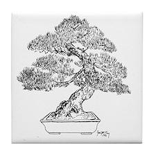 Funny Bonsai trees Tile Coaster