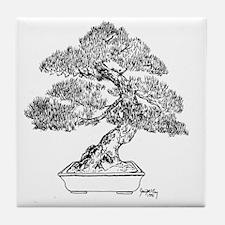 Cute Bonsai Tile Coaster