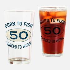 50th Birthday Fishing Drinking Glass