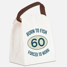 60th Birthday Fishing Canvas Lunch Bag