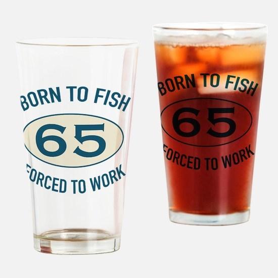 65th Birthday Fishing Drinking Glass