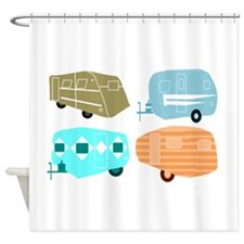 Rambling RVs Shower Curtain