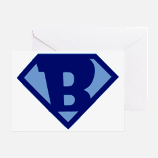 Super Hero Letter B Greeting Card