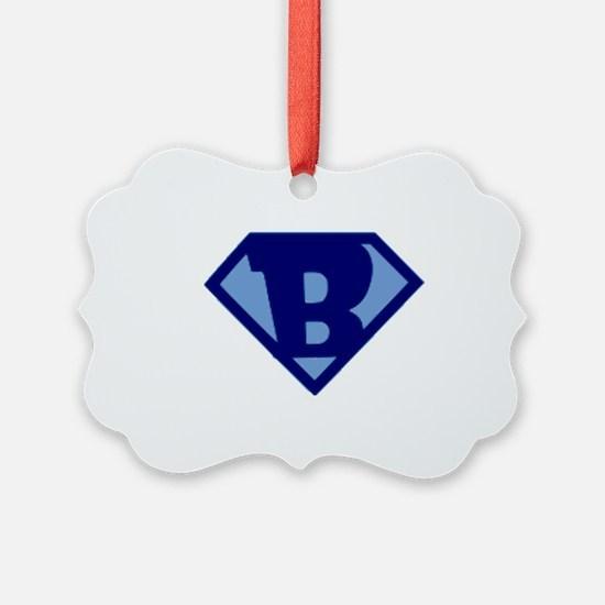 Super Hero Letter B Ornament