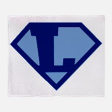 Super Hero Letter L Throw Blanket